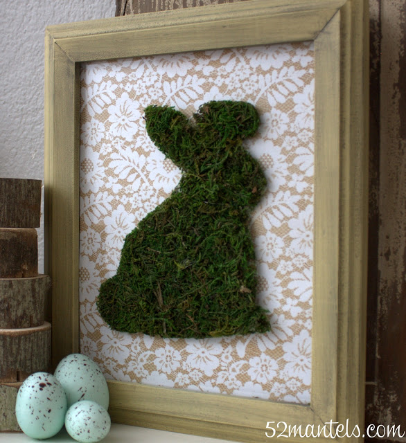 easter crafts moss bunny picture