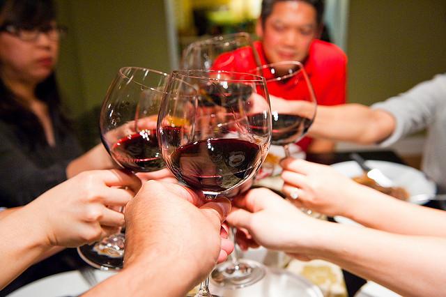 food wine glasses