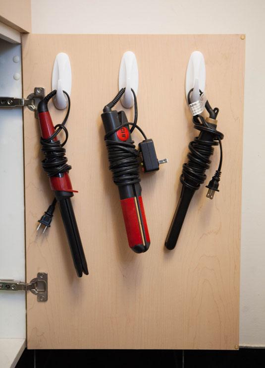 house hacks curling iron command hooks