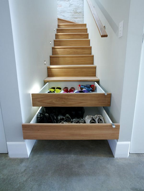 house hacks under stair storage drawers