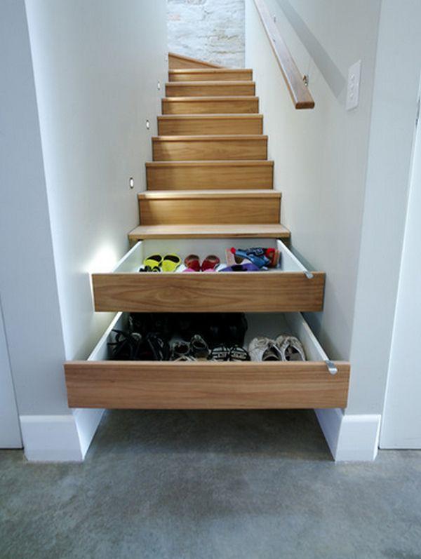 house hacks under stair storage drawers