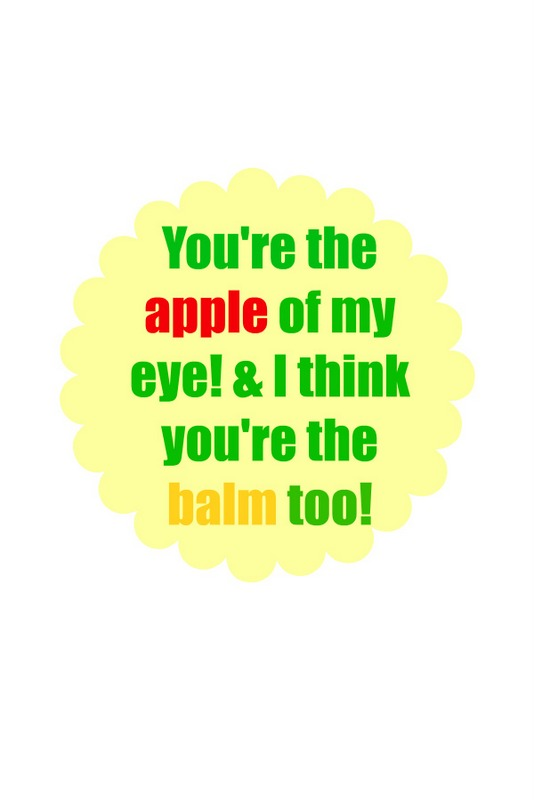 apple lip balm printable fav