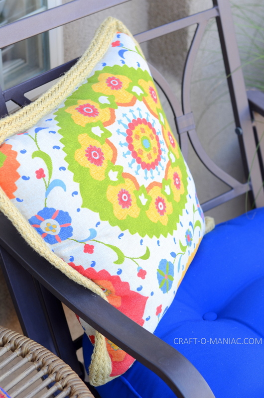 bright porch decor flowerpillow