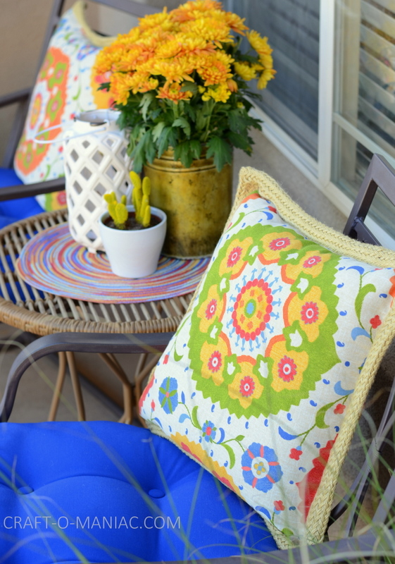 bright porch decor flowerpillows