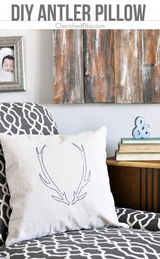 link party antler pillow