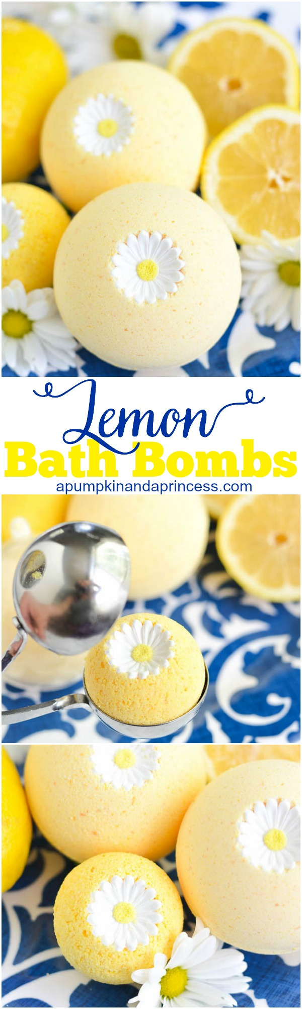 link party lemon bath bomb