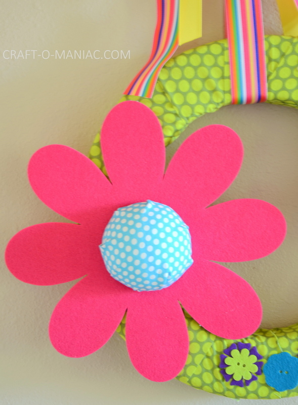 diy foam flower wreath10
