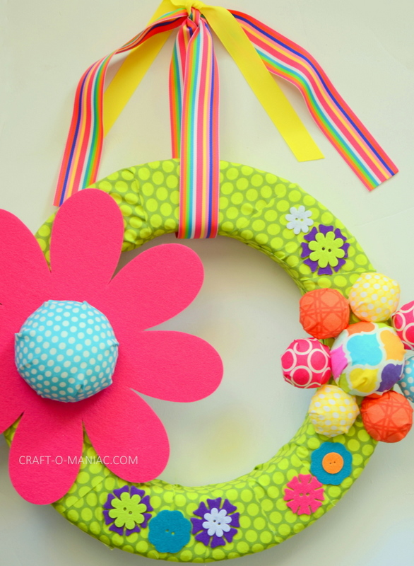 diy foam flower wreath14