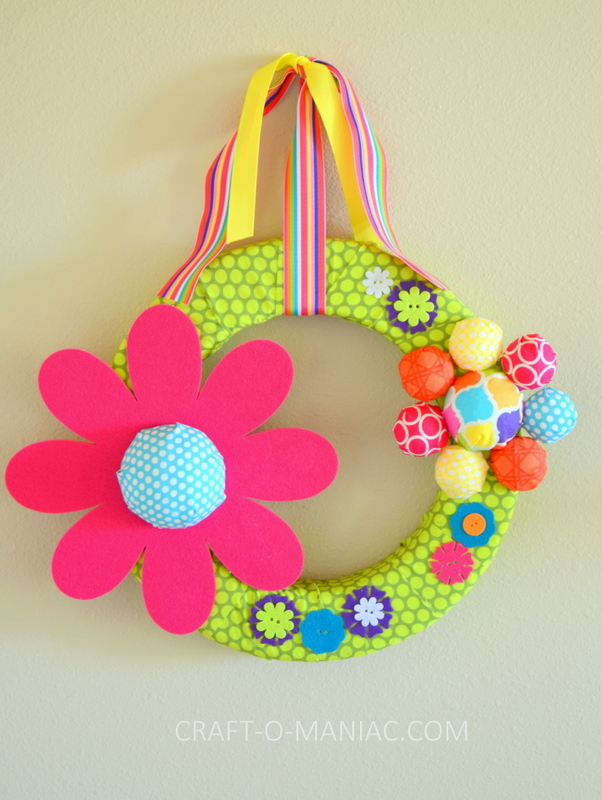 diy foam flower wreath7-001