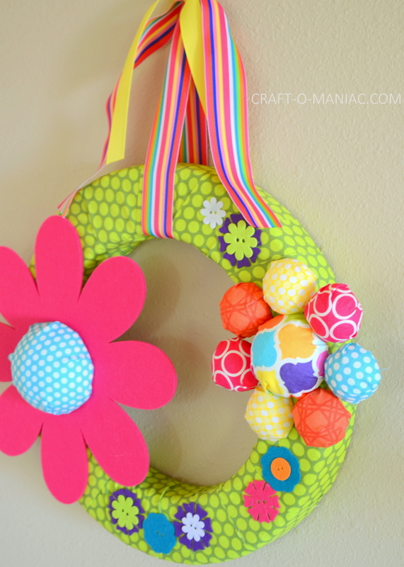 diy foam flower wreath8