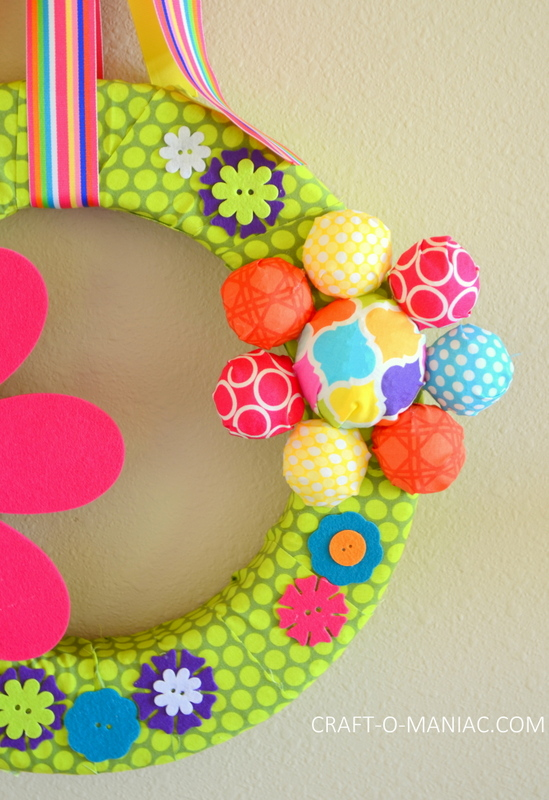 diy foam flower wreath9