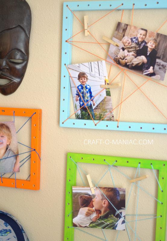 diy string art photo frames11