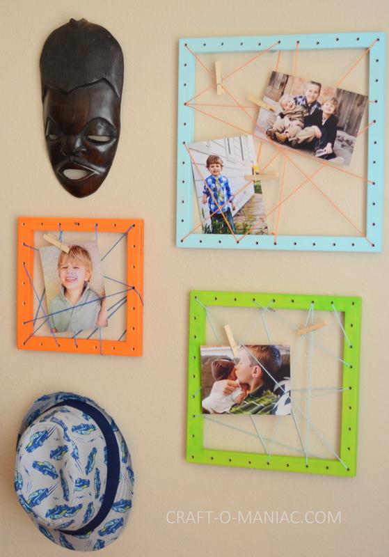 diy string art photo frames13