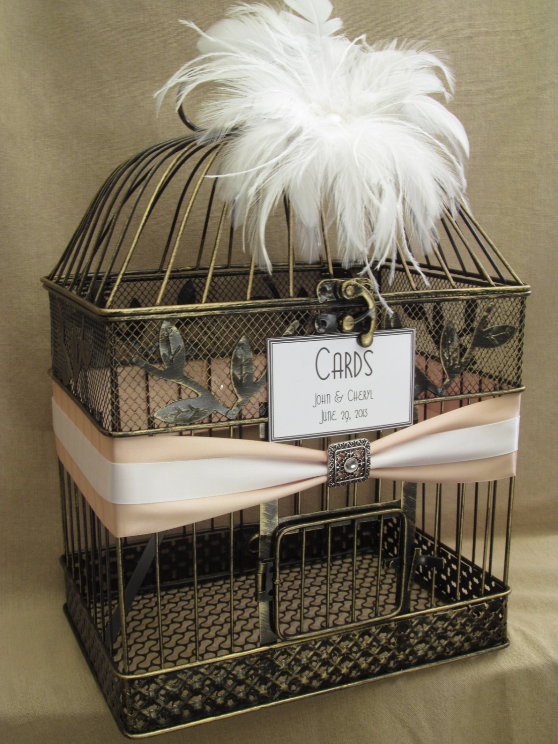 Five Creative Ways to Display Your Wedding Cards CraftOManiac – Birdcage Wedding Card Box