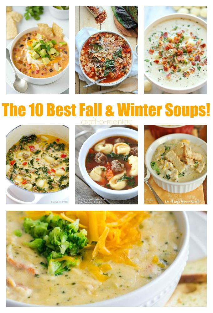 10 soups collage with text