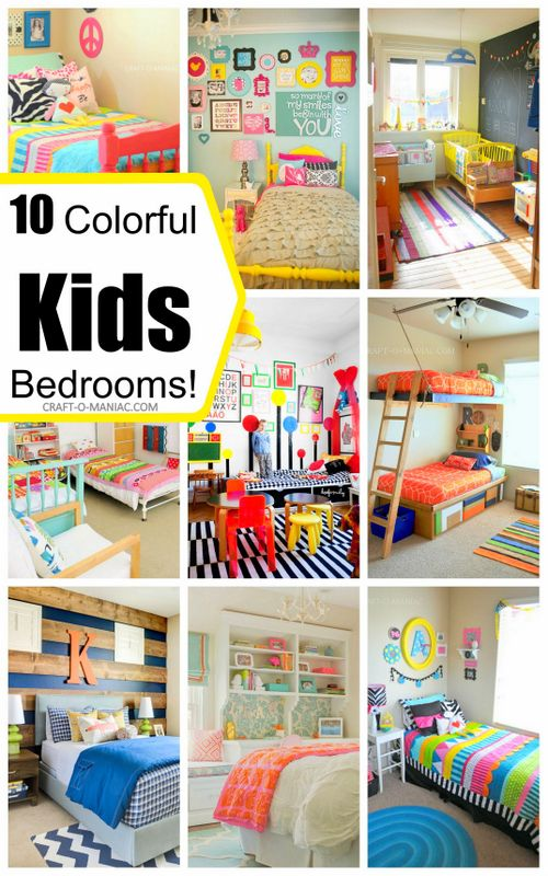 colorful kids bedrooms text