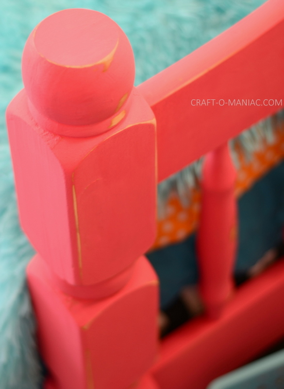 upcycled chalk paint pink bed10