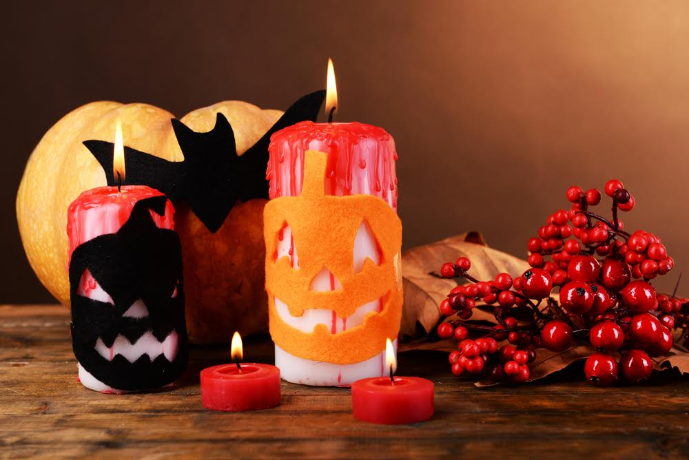halloween candles and party