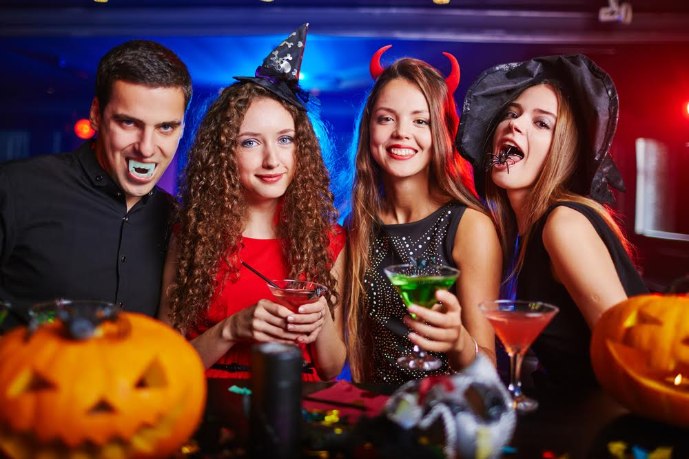 halloween costumes and party