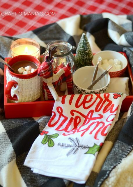 cozy plaid christmas bedding