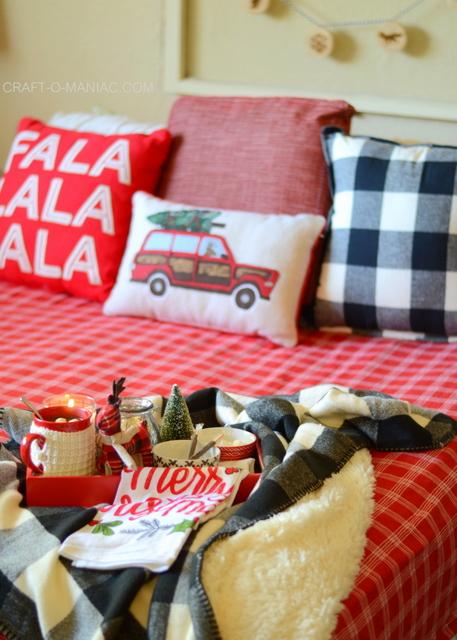 cozy plaid christmas bedding3