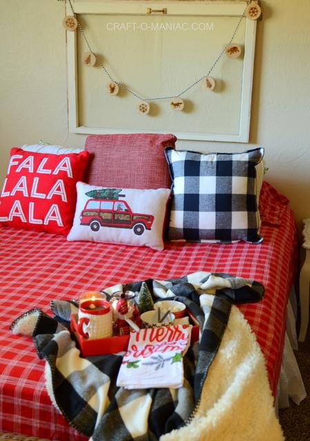 cozy plaid christmas bedding8