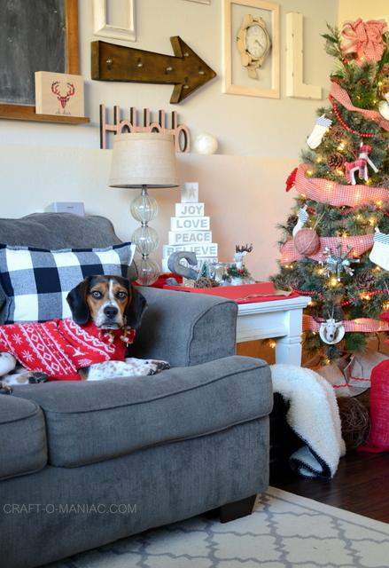 plaid woodland christmas tree10