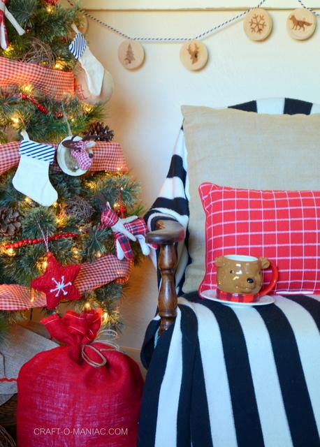 plaid woodland christmas tree6