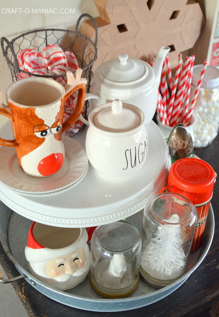 christmas hot cocoa bar