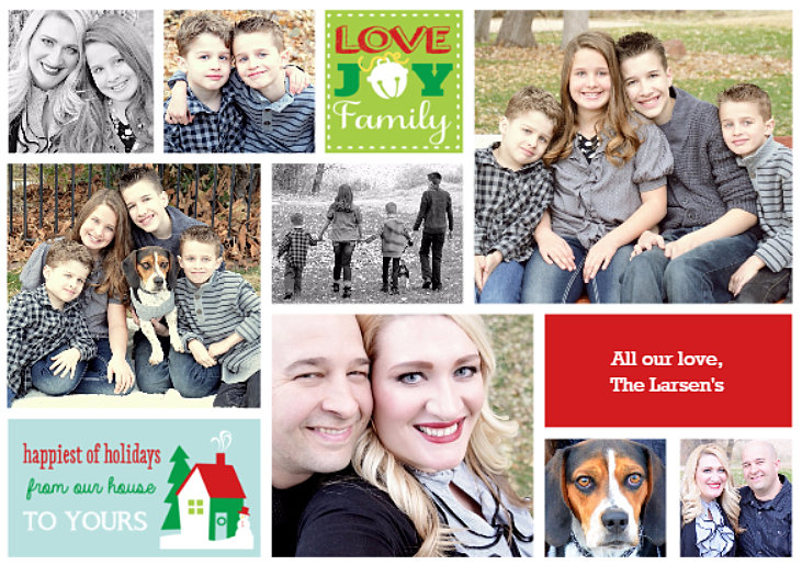 family christmas 2015 card