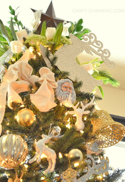 gold and cream christmas tree7