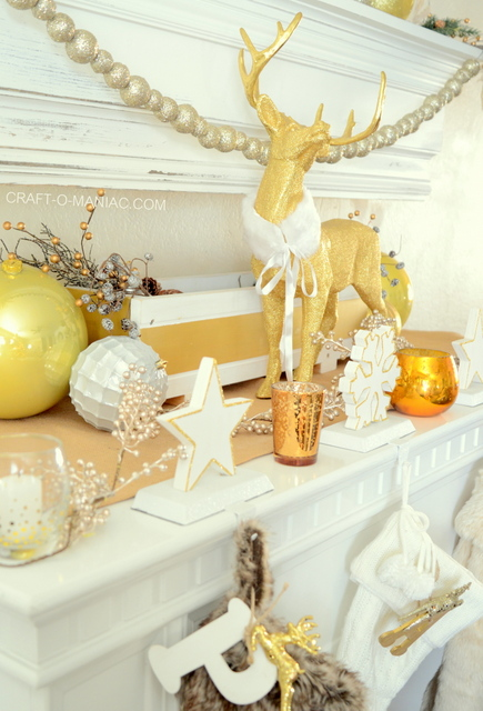Miraculous Gold And White Christmas Mantel Craft O Maniac Download Free Architecture Designs Scobabritishbridgeorg