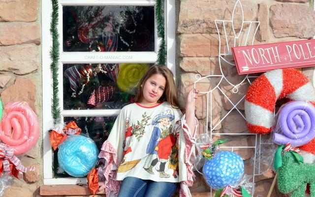 ruffled christmas poncho18