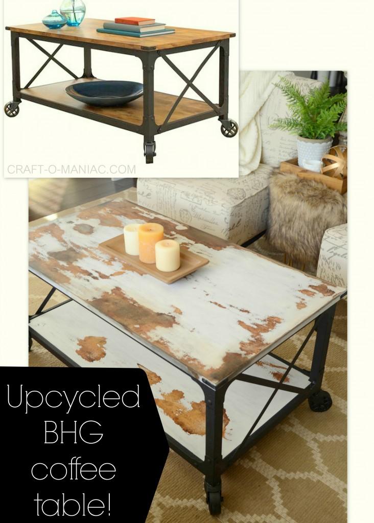 DIY upcycled bhg coffee table text