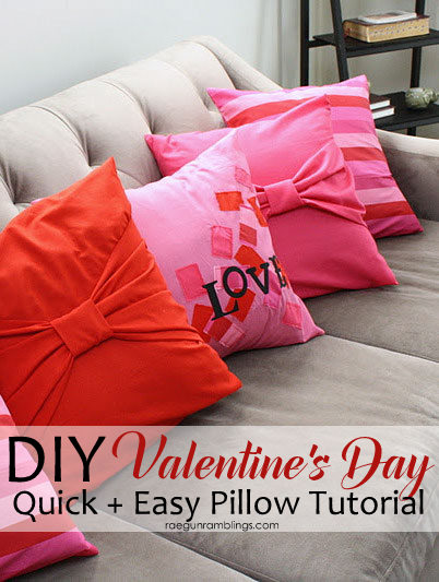 cc new diy valentine pillow