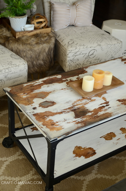 diy chalkpaint cowhide coffee table.2jpg